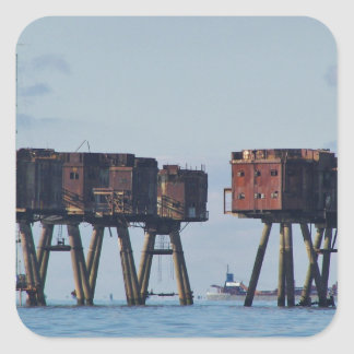 Forts In The Thames Estuary Square Sticker