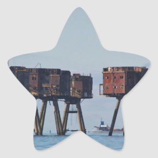 Forts In The Thames Estuary Star Sticker