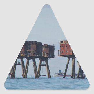 Forts In The Thames Estuary Triangle Sticker