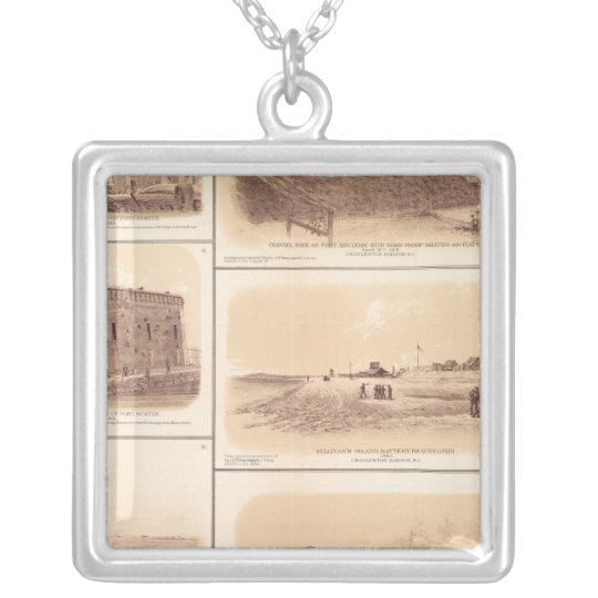 Forts Sumter & Moultrie, Sullivan's Island Silver Plated Necklace