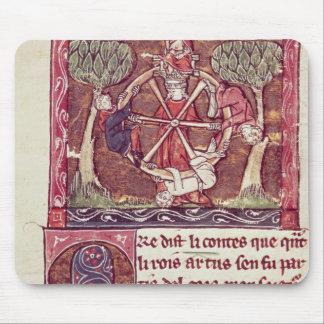 Fortuna ciega de la diosa con rey Arturo Alfombrilla De Ratones