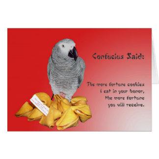 Fortuna de la buena suerte tarjeta de felicitación