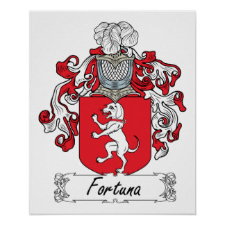 Fortuna Family Crest Posters