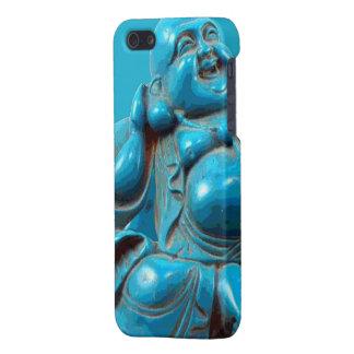 Fortuna sonriente Buda feliz que talla la turquesa iPhone 5 Carcasa