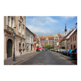 Fortuna Street in Castle District in Budapest Print