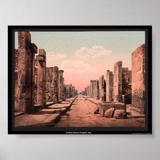 Fortuna Street, Pompeii, Italy Poster