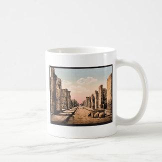 Fortuna Street, Pompeii, Italy vintage Photochrom Coffee Mug