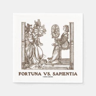 Fortuna vs Sapientia (16th Century Wood Engraving) Disposable Napkins