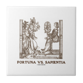 Fortuna vs Sapientia (16th Century Wood Engraving) Tile