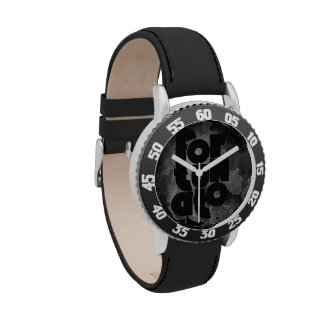Fortunato negro y gris relojes de pulsera