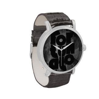 Fortunato negro y gris reloj
