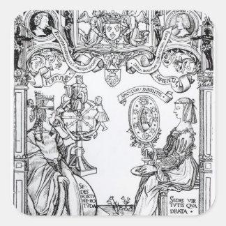 Fortune and Wisdom Square Sticker