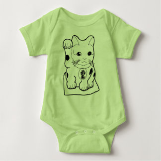 """Fortune Cat"" Baby Bodysuit"