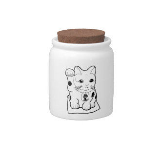 """""""Fortune Cat"""" Candy Dish"""