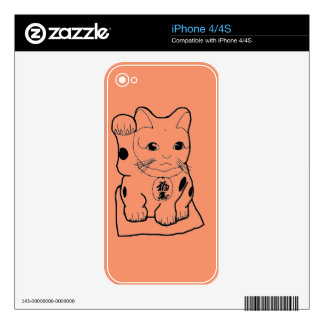 """""""Fortune Cat"""" Decals For The iPhone 4S"""