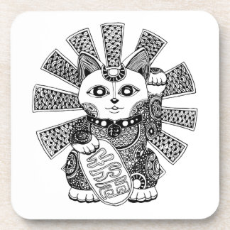 Fortune Cat Drink Coaster
