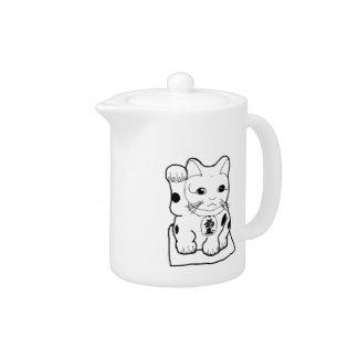 """""""Fortune Cat"""" Teapot"""