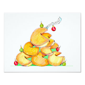 Fortune Cookie Christmas Tree Card