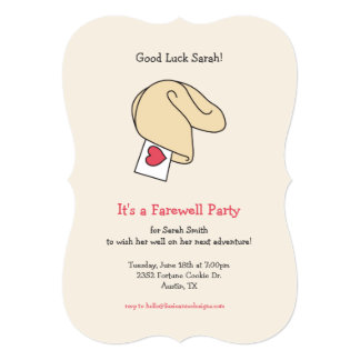 Fortune Cookie Good Luck / Farewell Invitation