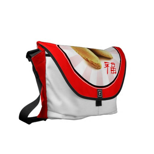 Fortune Cookie 'Luck' Bag (red) Courier Bag