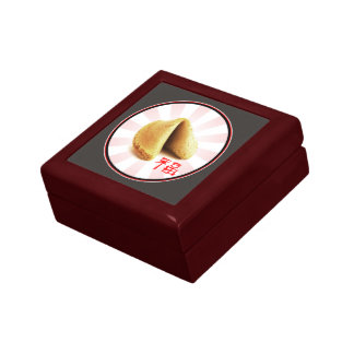 Fortune Cookie 'Luck' Gift Box (brown)