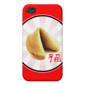 Fortune Cookie 'Luck' iPhone Case (red) iPhone 4 Covers