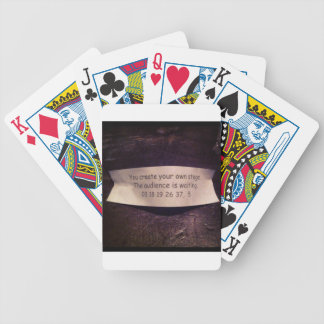 Fortune Cookie Quote Bicycle Poker Cards