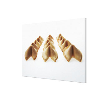 Fortune Cookies in three rows Gallery Wrapped Canvas