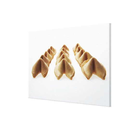 Fortune Cookies in three rows Canvas Print