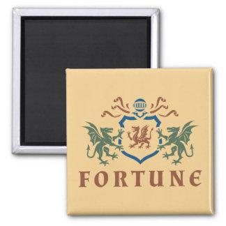 Fortune Dragon Shield 2 Inch Square Magnet