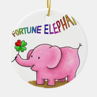 Fortune Elephant Ceramic Ornament