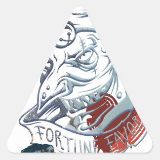 Fortune Favors Bold Joker Card Gambling Poker Triangle Sticker