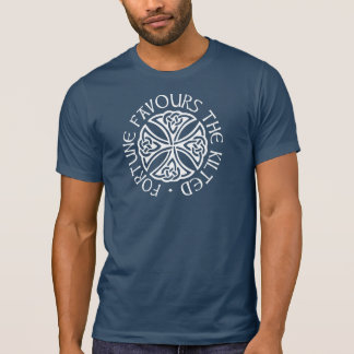 Fortune Favours the Kilted - blue T-Shirt