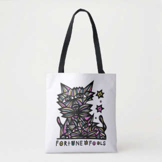 Fortune Fools BuddaKats All- Over Tote Bag