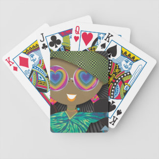 Fortune Girl Taj. . . Heart Glasses Bicycle Playing Cards
