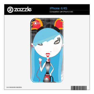 Fortune Girls Flame Skins For iPhone 4