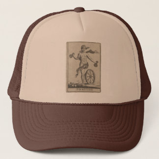 Fortune Lady Luck Antique Engraving Trucker Hat
