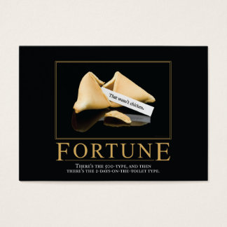 Fortune Motivational Parody Business Cards