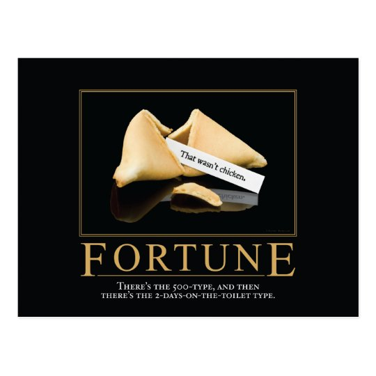 Fortune Motivational Parody Postcard