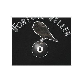 fortune teller crow stretched canvas print