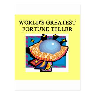 fortune teller design postcard