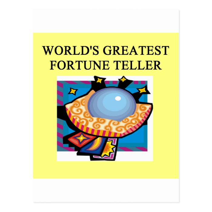 fortune teller design postcard zazzle. Black Bedroom Furniture Sets. Home Design Ideas
