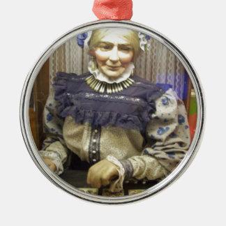 Fortune Teller from Santa Cruz Boardwalk Round Metal Christmas Ornament