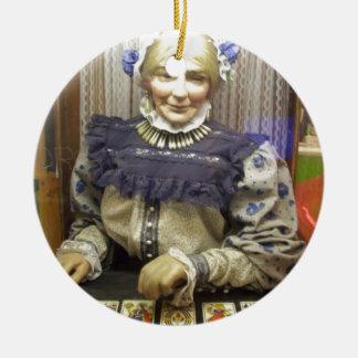 Fortune Teller from Santa Cruz Boardwalk Double-Sided Ceramic Round Christmas Ornament