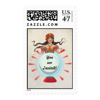 Fortune Teller Gypsy Chrystal Ball postage stamps