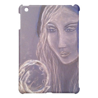Fortune teller looking into a crystal ball case for the iPad mini