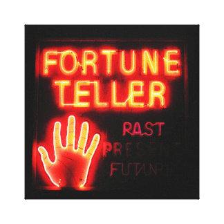 Fortune Teller - Past Present & Future Stretched Canvas Print