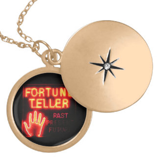 Fortune Teller - Past Present & Future Gold Plated Necklace