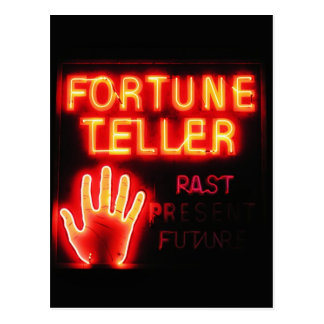 Fortune Teller - Past Present & Future Postcard