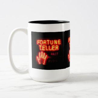 Fortune Teller - Past Present & Future Two-Tone Coffee Mug